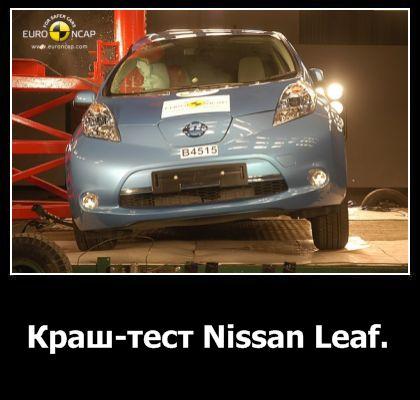 Краш-тест Nissan Leaf
