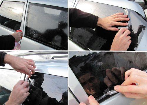 Как затонировать стекла на авто своими руками 3