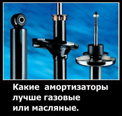 Какие амортизаторы лучше газовые или масляные