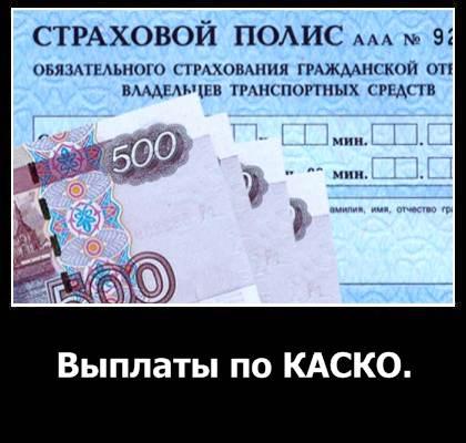 Выплаты по КАСКО