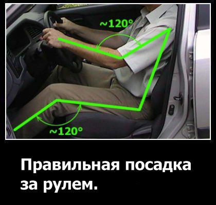 Правильная посадка за рулем