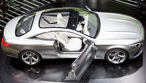 Mercedes S-Class Coupe вид сверху