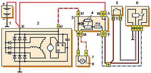 Схема подключений генератора модели 37.3701