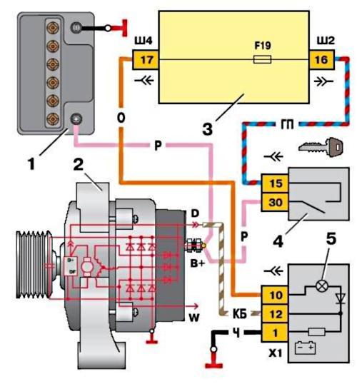 Схема подключения генератора 94.3701