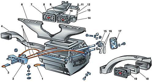 Устройство системы отопления салона ВАЗ 2107