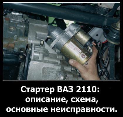 Стартер ваз 2110 устройство