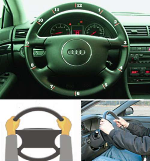 Как правильно крутить руль автомобиля
