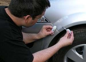 ремонт небольших сколов и царапин лакокрасочного покрытия