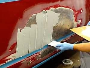 восстановление лакокрасочного покрытия с ремонтом вмятин и без