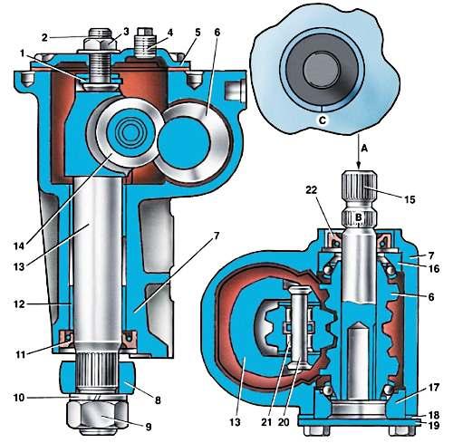 Устройство рулевой колонки ВАЗ 2107