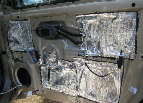 правильная шумоизоляция дверей автомобиля