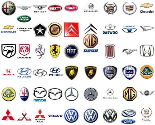Эмблемы автомобилей мира, значки, логотипы