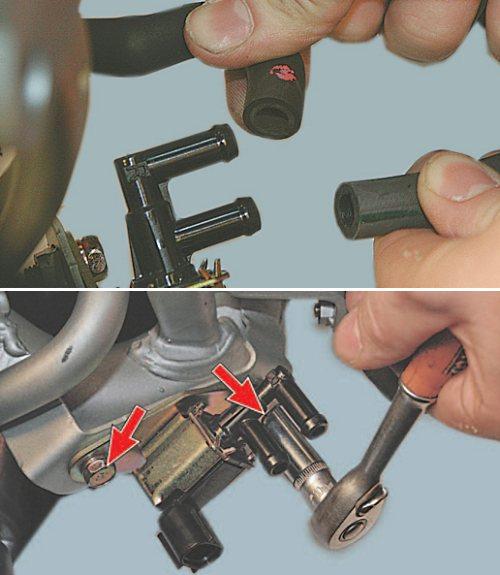 Как проверить клапан адсорбера