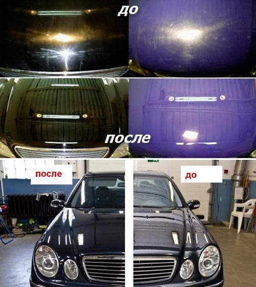 керамическое покрытие автомобиля до и после